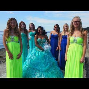 Neon Green Formal Dress